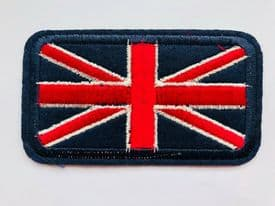 1 x UNION JACK BRITISH FLAG EMBROIDERED IRON ON MOTIF/PATCH/BADGE Ref: 2